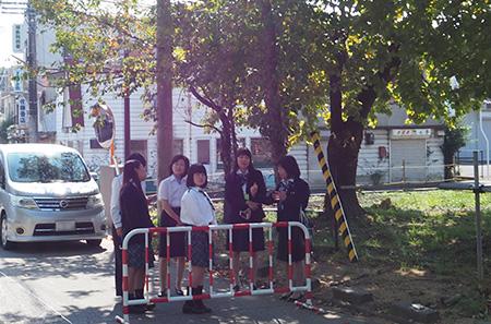 151018 7 福島県連盟に訪問してまちフェスでの支援金を届けました