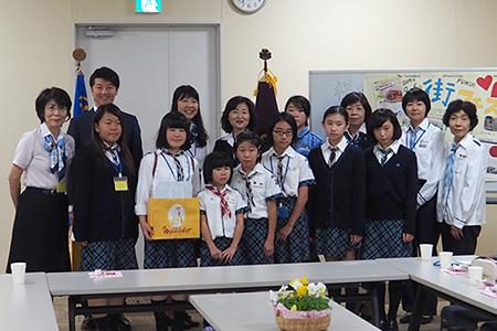 151018 8 福島県連盟に訪問してまちフェスでの支援金を届けました